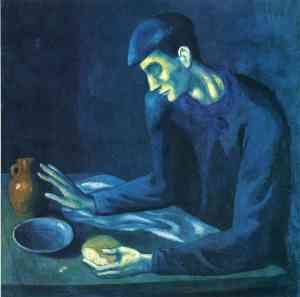 Breakfast of a blind man - Pablo Picasso